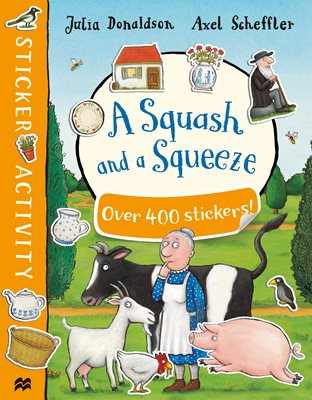 Book cover for A Squash and a Squeeze Sticker Book